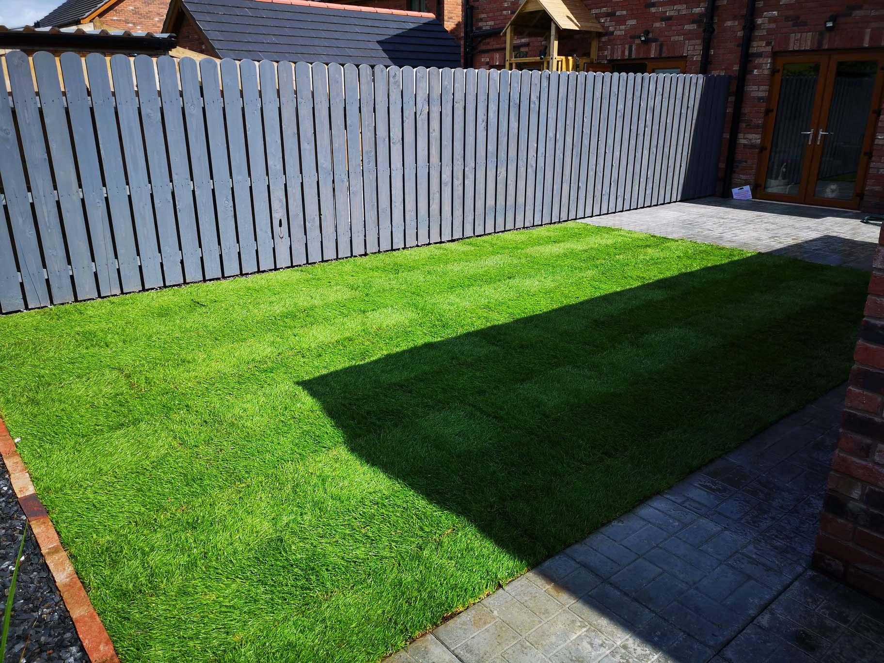 Job finished on the garden grass